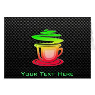 Sleek Hot Coffee Greeting Card