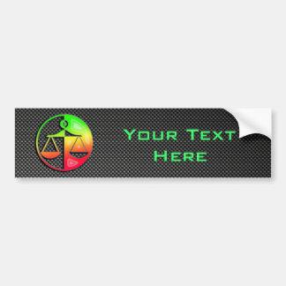 Sleek Justice Scales Bumper Sticker