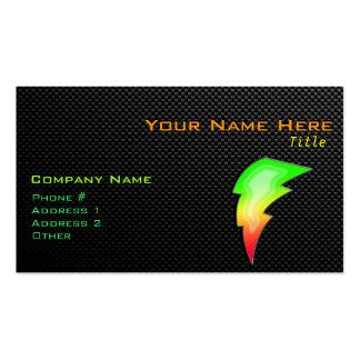 Sleek Lightning Bolt Pack Of Standard Business Cards