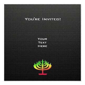 Sleek Menorah Invite