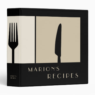 Sleek Modern Cooking Recipe Book Binder