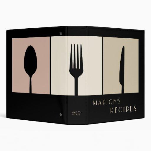 Sleek Modern Cooking Recipe Book Binder