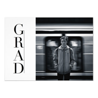 Sleek & Modern Grad | Party Photo Card