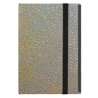 Sleek Modern Textured Metal | Gold Silver Pitted Cover For iPad Mini