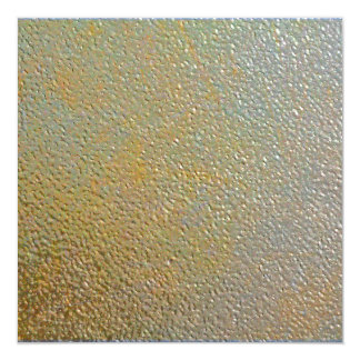 """Sleek Modern Textured Metal Gold Silver Pitted 5.25"""" Square Invitation Card"""