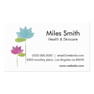 Sleek Modern White Pack Of Standard Business Cards