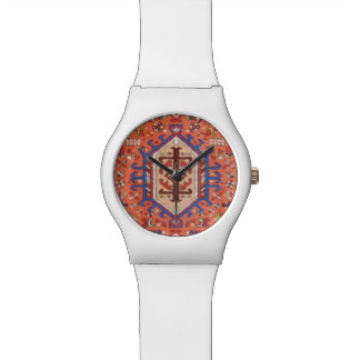 Sleek Modern White & Persian Design Watch