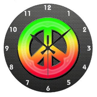 Sleek Peace Sign Wallclock