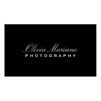 SLEEK PHOTOGRAPHER PACK OF STANDARD BUSINESS CARDS