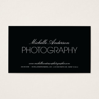 SLEEK PHOTOGRAPHER | PHOTOGRAPHY BUSINESS CARD