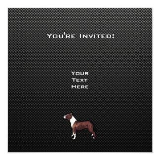 "Sleek Pitbull 5.25"" Square Invitation Card"