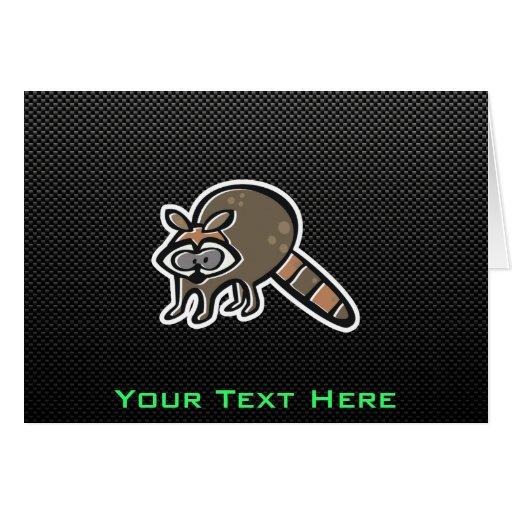 Sleek Raccoon Greeting Cards
