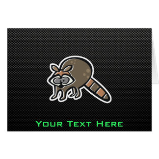 Sleek Raccoon Greeting Card