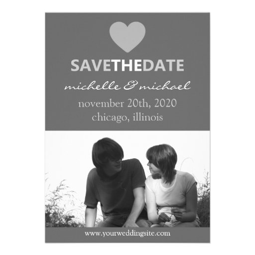 Sleek Save The Date Announcement (Silver)