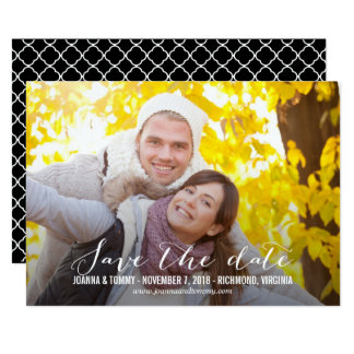 SLEEK Save The Date Cards