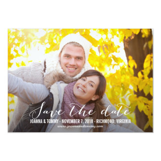 "SLEEK Save The Date Cards 5"" X 7"" Invitation Card"