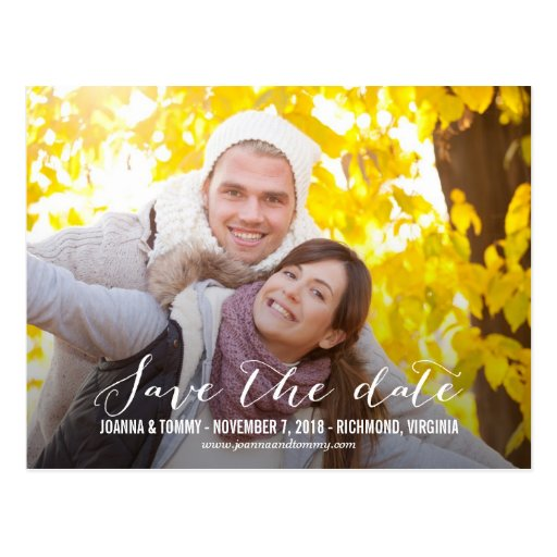 SLEEK Save The Date Postcard Post Card