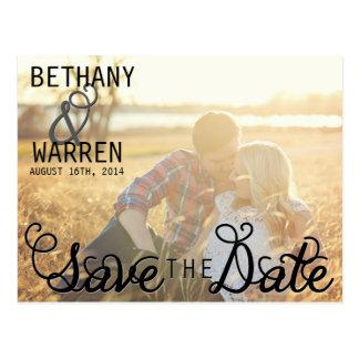 Sleek Save The Date Postcard