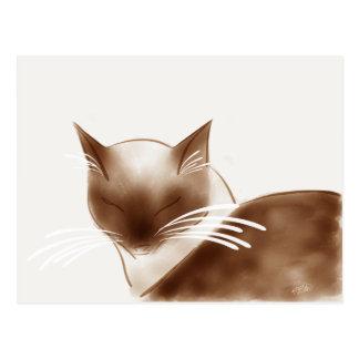 Sleek Siamese Cat Postcard