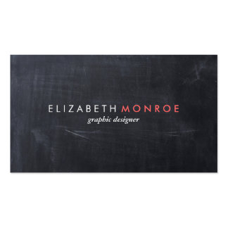 Sleek Simple Modern Chalkboard Business Card