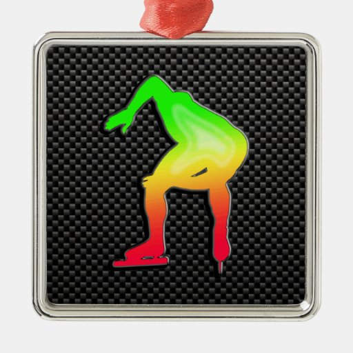 Sleek Speed Skater Ornaments