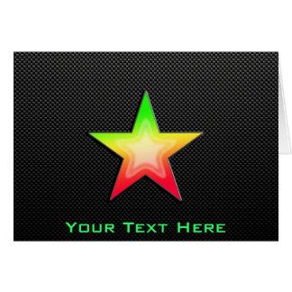 Sleek Star Greeting Card