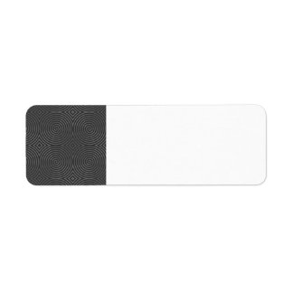 Sleek, stylish, black and white design. custom return address label