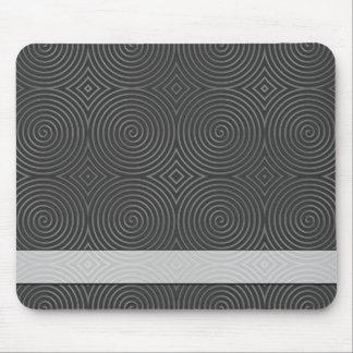Sleek stylish black and white design mouse pads