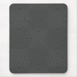 Sleek stylish black and white design mousepads
