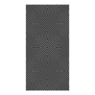 Sleek stylish black and white design personalized photo card