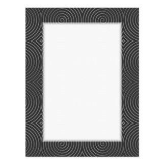 Sleek, stylish, black and white design. postcard