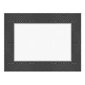 Sleek, stylish, black and white design. postcards
