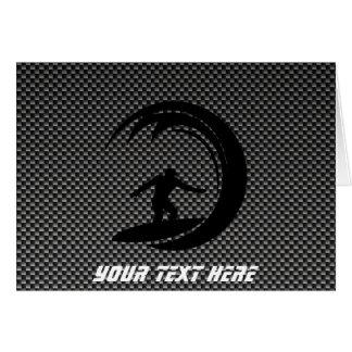 Sleek Surfing Greeting Card