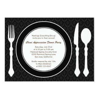 Sleek Tabletop Corporate Party Invitation - Black