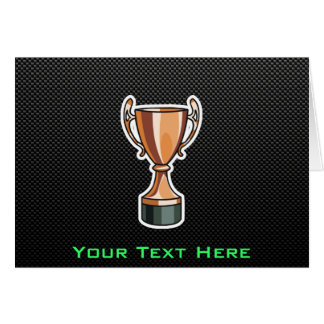 Sleek Trophy Greeting Card