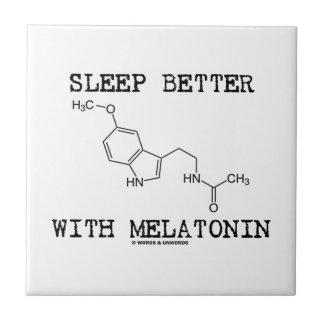 Sleep Better With Melatonin Chemical Molecule Ceramic Tiles