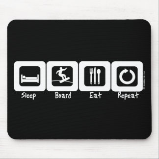 Sleep Board Eat Repeat Mouse Pad
