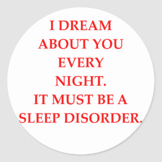SLEEP CLASSIC ROUND STICKER