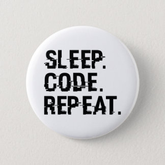 Sleep Code Repeat 2 Inch Round Button
