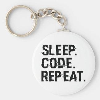 Sleep Code Repeat Keychain