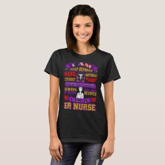Sleep Deprived Blood Stained I Am An ER Nurse Tees