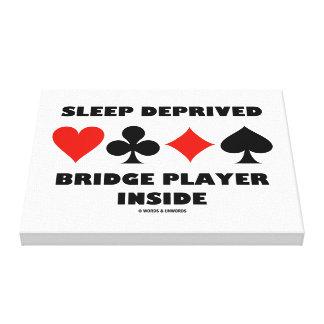 Sleep Deprived Bridge Player Inside Card Suits Canvas Print