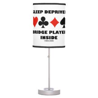 Sleep Deprived Bridge Player Inside Card Suits Table Lamp