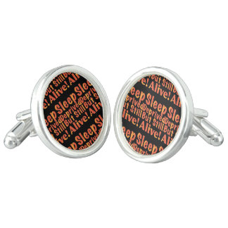 Sleep Deprived But Still Alive in Fire Tones Cufflinks