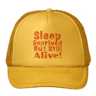 Sleep Deprived But Still Alive in Fire Tones Trucker Hat
