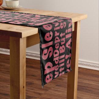 Sleep Deprived But Still Alive in Raspberry Short Table Runner