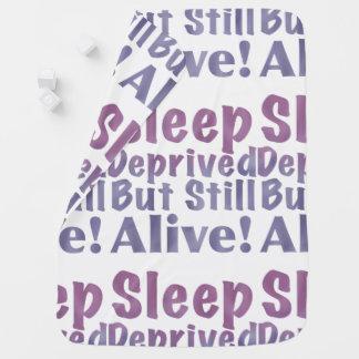 Sleep Deprived But Still Alive in Sleepy Purples Baby Blanket
