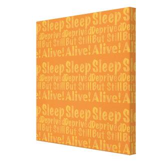 Sleep Deprived But Still Alive in Sleepy Purples Canvas Print