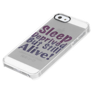 Sleep Deprived But Still Alive in Sleepy Purples Clear iPhone SE/5/5s Case
