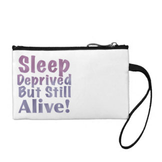 Sleep Deprived But Still Alive in Sleepy Purples Coin Purse